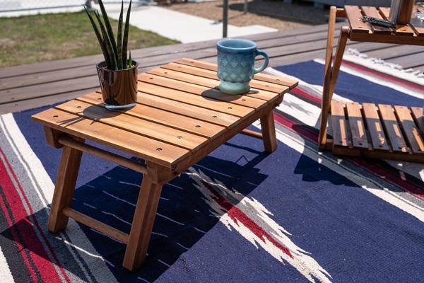 ガーデンテーブル アカシア 折り畳みローテーブル45 アウトドアテーブル ウッドテーブル 送料無料