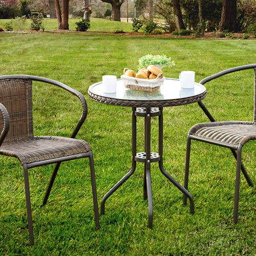 ガーデンテーブル ウッドデッキなどやベランダで! ガラステーブル 送料無料