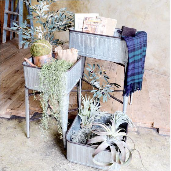 折りたためて収納出来る 植物をおしゃれに飾れるディスプレイコンテナA