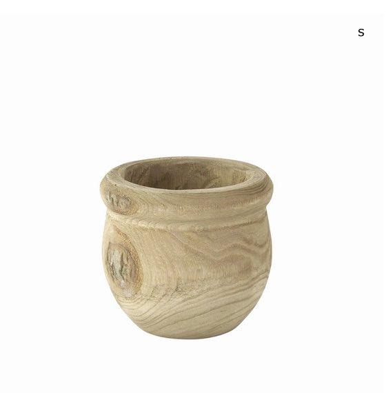 天然木から削り出した鉢 CARVING POT HOLE  Sサイズ 多肉植物にオススメ!