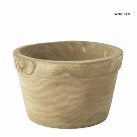 残りわずか 天然木から削り出した鉢   CARVING WIDE POT 多肉植物やハーブなどにオススメ!