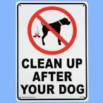 送料無料 プラスティックサインボード CA-23 犬の後始末をきれいに