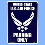 送料無料 プラスティックサインボード CA-28 米空軍専用駐車場