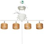 送料無料 LEDひも式4灯スポットシーリングライト