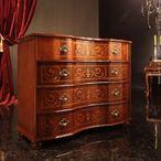 送料無料 ヴェローナクラシック 丸脚4段チェスト イタリア 家具 ヨーロピアン アンティーク風