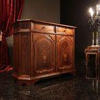 送料無料 ヴェローナクラシック サイドボード 幅124cm イタリア 家具 ヨーロピアン アンティーク風