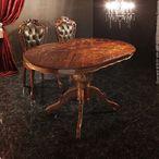 送料無料 ヴェローナクラシック ダイニングテーブル 幅135cm イタリア 家具 ヨーロピアン アンティーク風