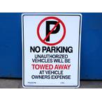 送料無料 プラスティックサインボードL SIZE CA-L01 NO PARKING(駐車禁止)