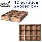 小物収納に、多肉植物などを飾っても ダルトン 12 PARTITION WOODEN BOX H65