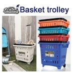 ランドリーバスケットに、買い物かごとしても BASKET TROLLEY