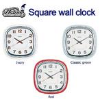 世田谷ベースにありそうな なんだか懐かしい レトロ感あふれるデザインの掛け時計 SQUARE WALL CLOCK