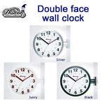 送料無料 店舗やガレージインテリアでも 壁付け時計  DOUBLE FACES WALL CLOCK